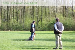 Gaby und Koda in der Fußarbeit (Foto: Helmut Wiegard)