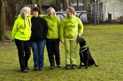 Die Starter der Obedience-Prüfung am 21.3.2015 in Hilden: Marion Gansel, Karin Preuss, Annett Thissen, Helma Spona