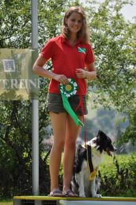 Bundesjugendsiegerin Obedience 2015: Judith Hinrichs (Foto: Michael Hinrichs)