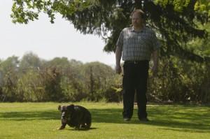 Thomas Nicolas als Steward in der Klasse-3-Gruppe mit Blindenhund